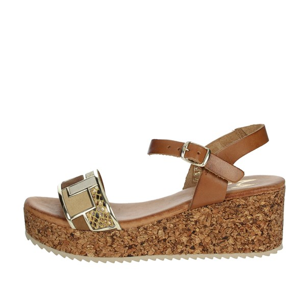 Marila' Shoes Sandals Brown leather 54082