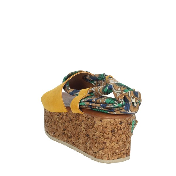 Marila' Shoes Sandals Yellow 9054