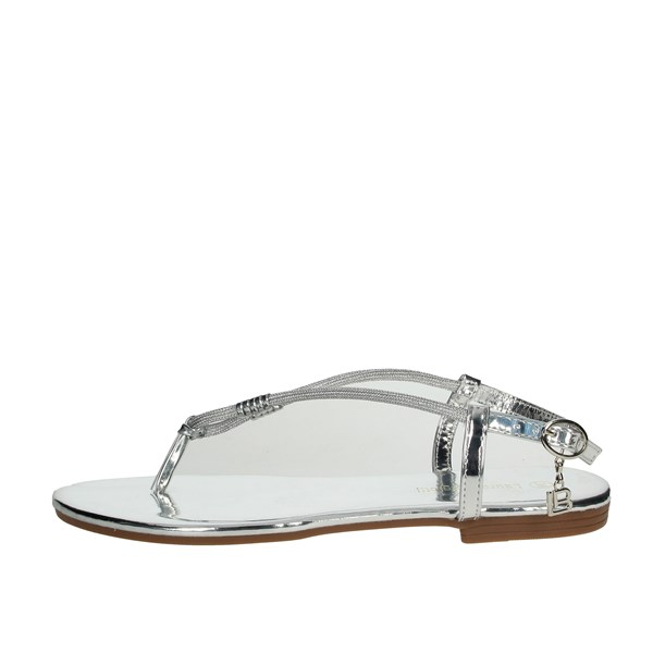 Laura Biagiotti Shoes Flip Flops Silver 6071