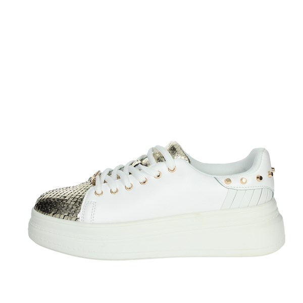 Pregunta Shoes Sneakers White/Gold MCD901