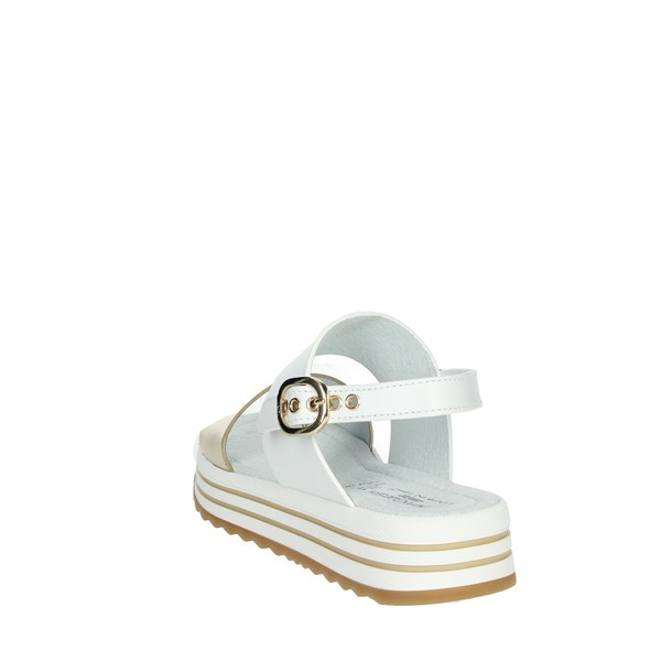 Nero Giardini Shoes Sandal White/Gold E031620F