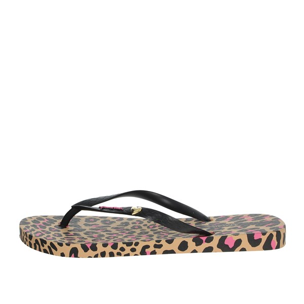 Ipanema Shoes Flip Flops Black/Beige 82594