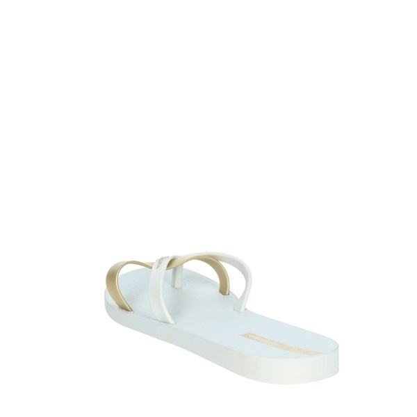 Ipanema Shoes Flip Flops White/Gold 81805