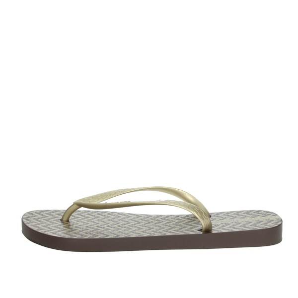 Ipanema Shoes Flip Flops Brown/Gold 82655