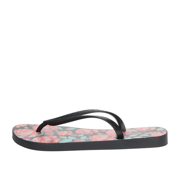 Ipanema Shoes Flip Flops Black/Red 82655