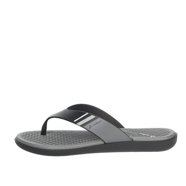 Rider Shoes Flip Flops Black/Grey 82568