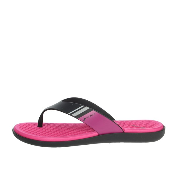 Rider Shoes Flip Flops Black/Fuchsia 82568