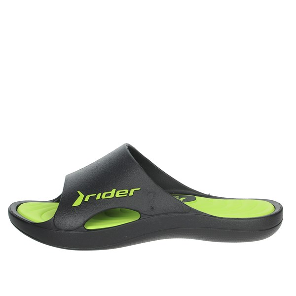 Rider Shoes Clogs Black/Green 82566