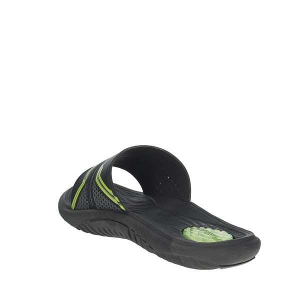 Rider Shoes Clogs Black/Green 82497