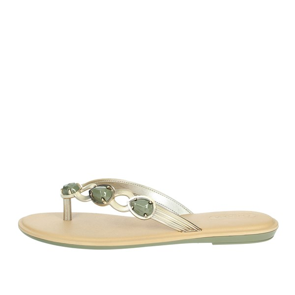 Grendha Shoes Flip Flops Beige 17627