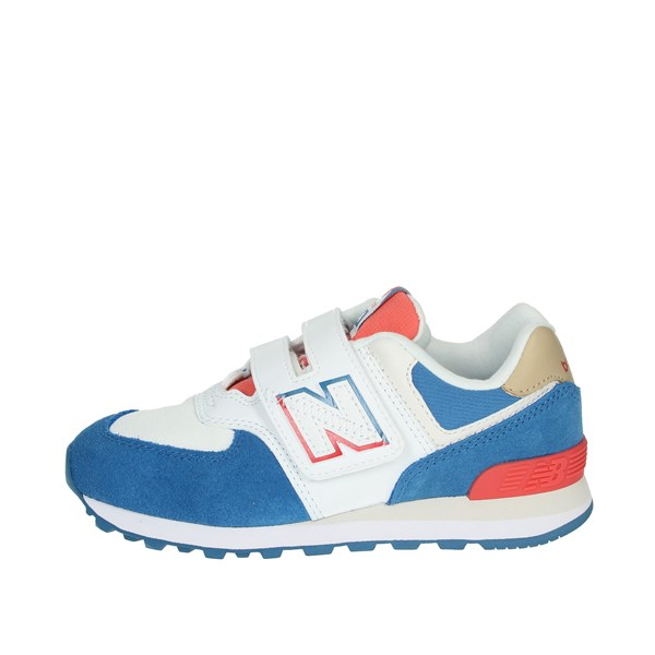New Balance Shoes Sneakers White/Light Blue YV574SCF