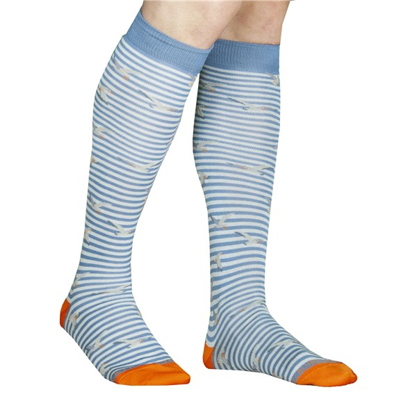 Alv By Alviero Martini Accessories Socks Blue ALV4095