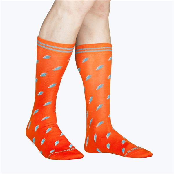 Alv By Alviero Martini Accessories Socks Orange ALV4098
