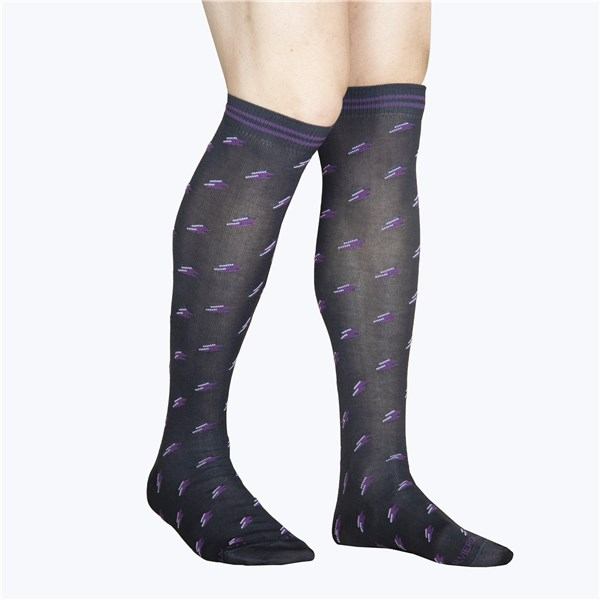 Alv By Alviero Martini Accessories Socks Charcoal grey ALV4099