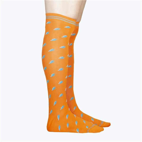 Alv By Alviero Martini Accessories Socks Orange ALV4099