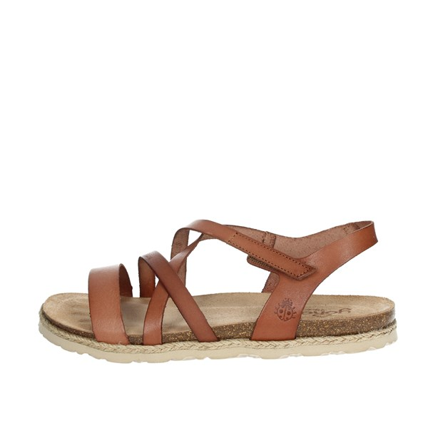 Yokono Shoes Sandals Brown leather CHIRPE-100