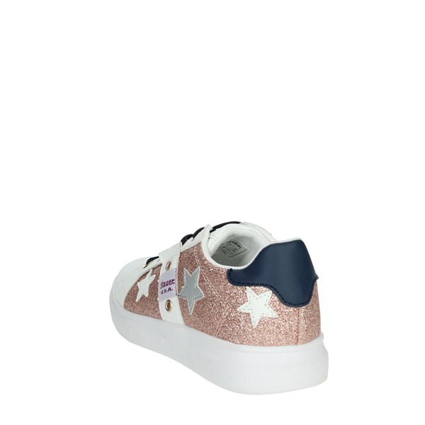 Blauer Shoes Sneakers White/Light dusty pink S0JASMINE01
