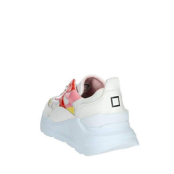 D.a.t.e. Shoes Sneakers White/Red FUGA-7E