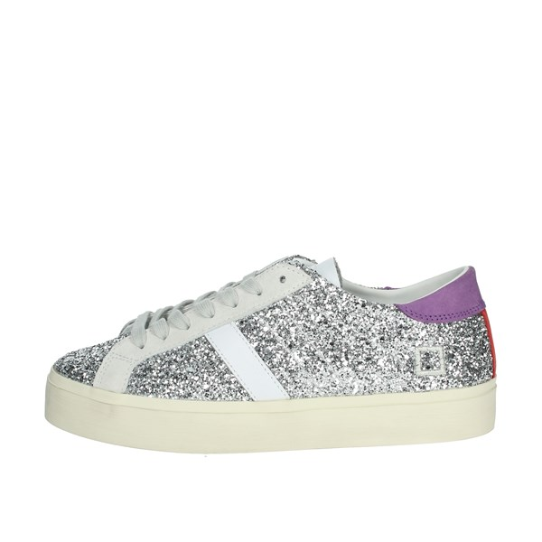 D.a.t.e. Shoes Sneakers Silver HILL DOUBLE-6E