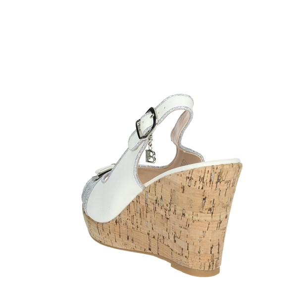 Laura Biagiotti Shoes Sandals White/Silver 6046