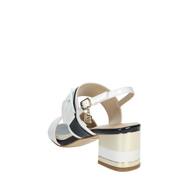 Laura Biagiotti Shoes Sandals White/Blue 6011
