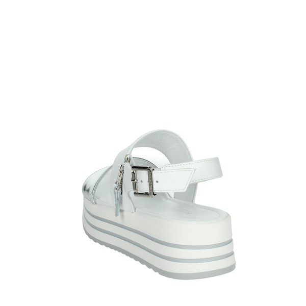 Nero Giardini Shoes Sandals White/Silver E012590D