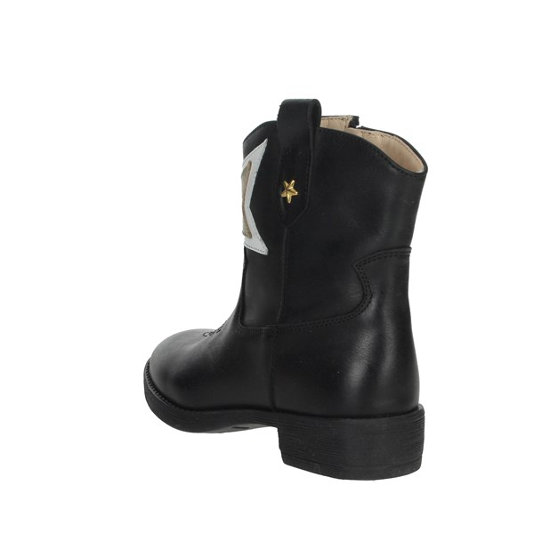 Florens Shoes Ankle Boots Black/Gold F8503