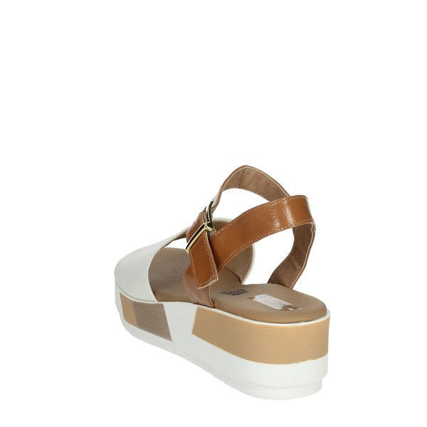 Tredy's Shoes Sandals White/Brown leather 11237-E0