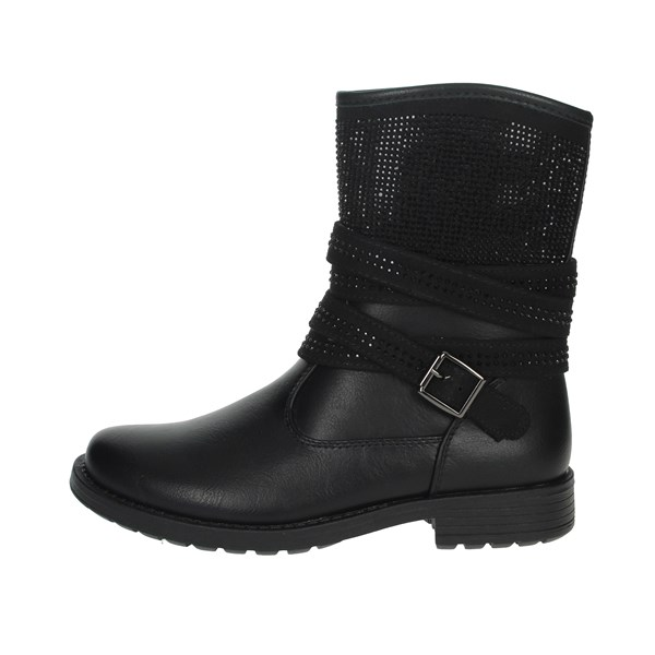Asso Shoes Ankle Boots Black AG-9303