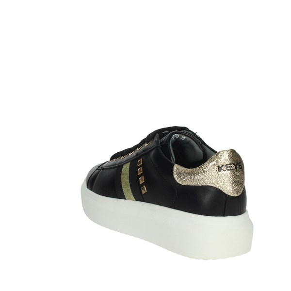 Keys Shoes Sneakers Black/Gold K-2203