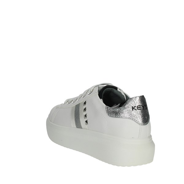 Keys Shoes Sneakers White/Silver K-2203