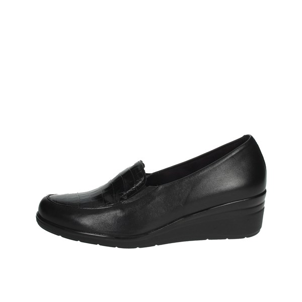 Pitillos Shoes Moccasin Black 6321