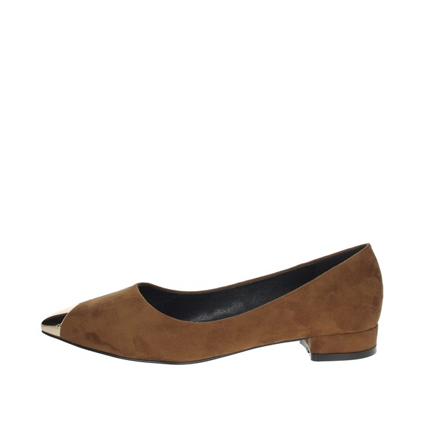 Gold & Gold Shoes Ballet Flats Brown GE88C