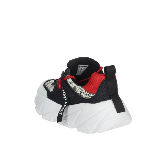 Shop Art Shoes Sneakers Black/Red SA0300