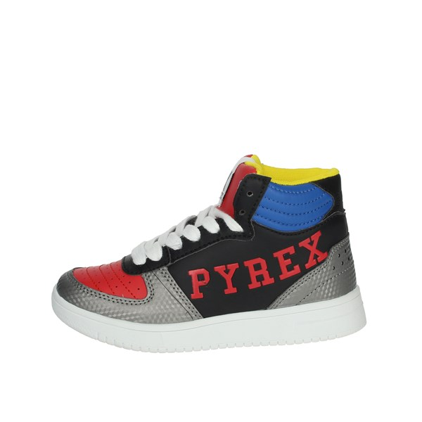 Pyrex Shoes Sneakers Black/Red PY040102