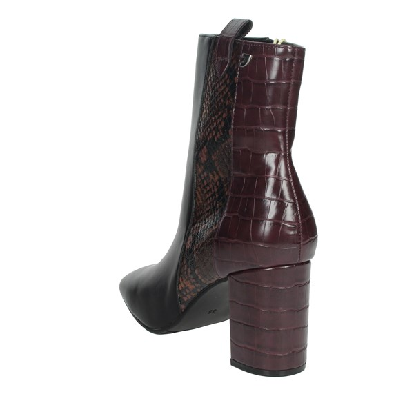 Gioseppo Shoes Ankle Boots Black/Burgundy 60558
