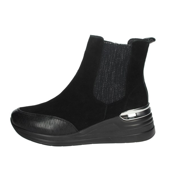 Keys Shoes Ankle Boots Black K-2502