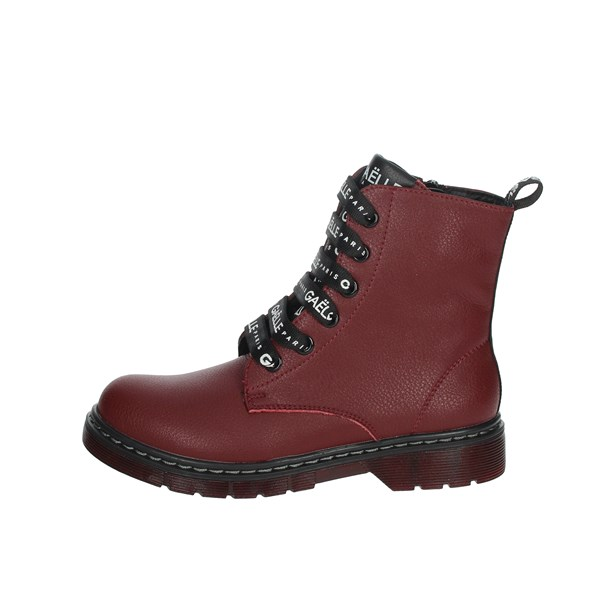 Gaelle Paris Shoes Boots Burgundy G-450A