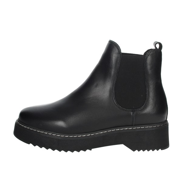 Keys Shoes Ankle Boots Black K-2602