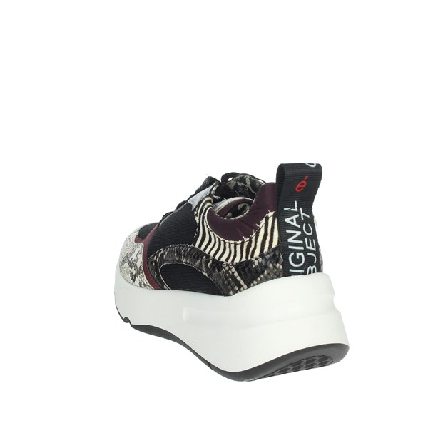 Meline Shoes Sneakers Black/Burgundy 603
