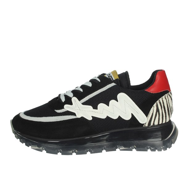 Meline Shoes Sneakers Black/White 1700