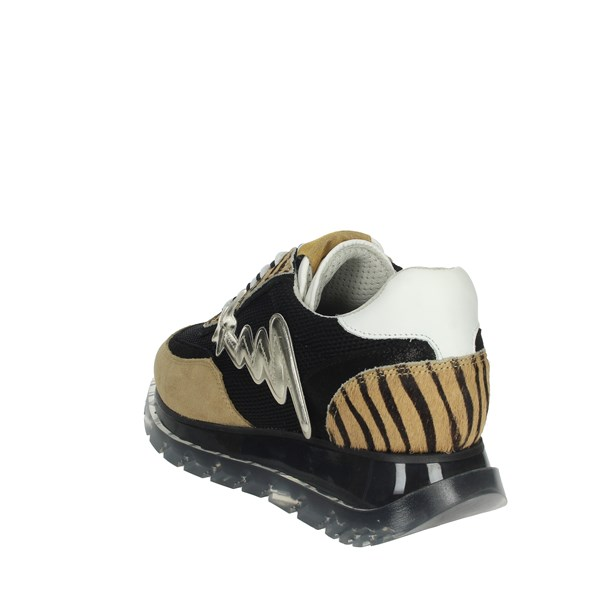 Meline Shoes Sneakers Black/Brown Taupe 1700