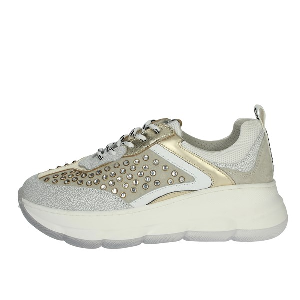 Meline Shoes Sneakers White/Gold 564