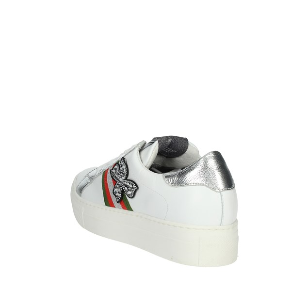 Meline Shoes Sneakers White/Silver 3021
