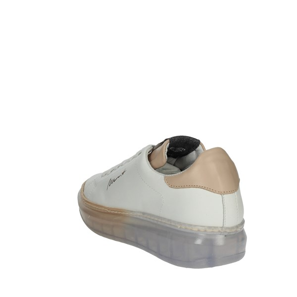 Meline Shoes Sneakers White/Light dusty pink 1605