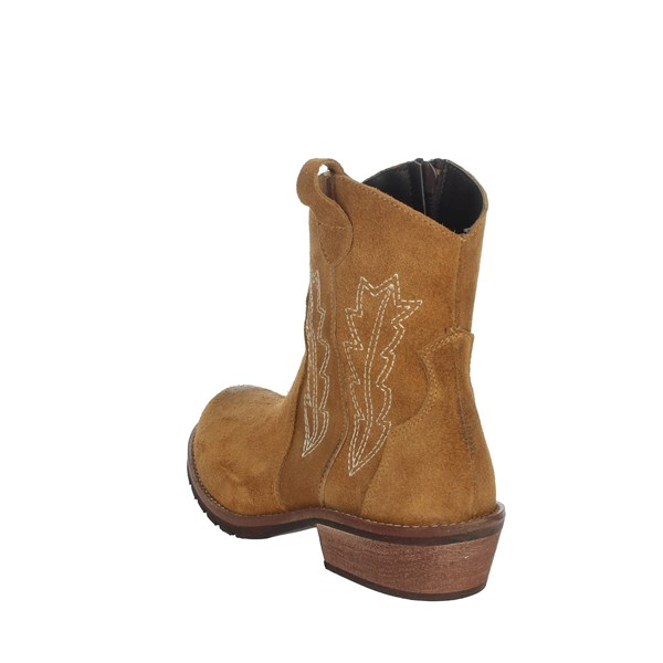 Carrots Shoes Ankle Boots Brown leather TX188