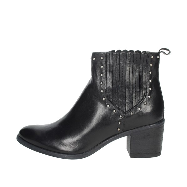 Manas Shoes Ankle Boots Black 10263M