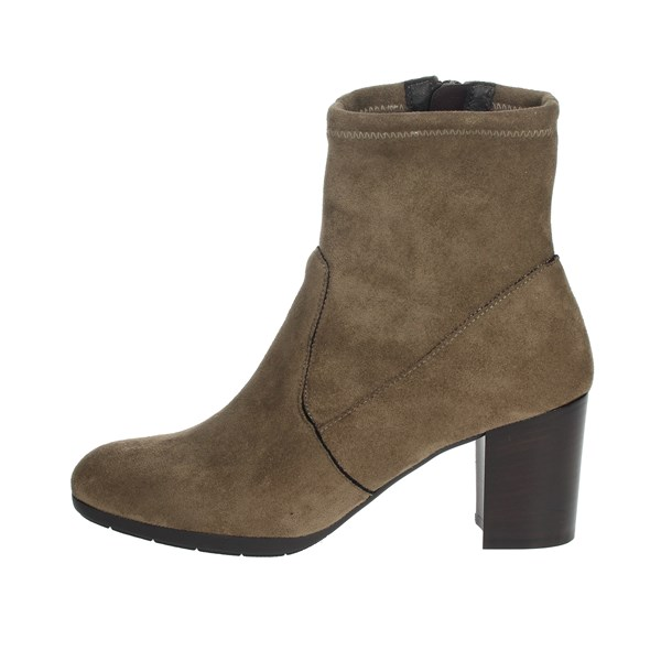 Nina Capri Shoes Ankle Boots Brown Taupe IC-76