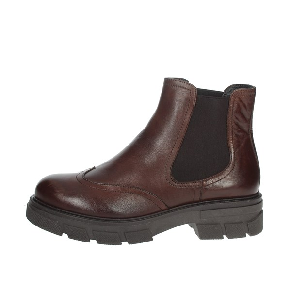 Nina Capri Shoes Ankle Boots Brown leather IC-71