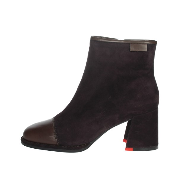 Nina Capri Shoes Ankle Boots Brown IC-145